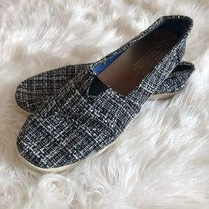 Black and white tweed TOMS